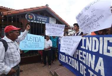 En Guarayos exigen justicia por el asesinato de un dirigente sindical. Foto Jorge Uechi