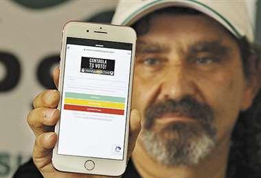 """Sammy Schwartz presentó la aplicación web """"Manda tu Acta"""""""