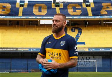 Daniele De Rossi a su llegada a Boca Juniors