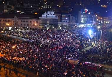 La Paz fue testigo de una multitudinaria movilización I Foto: APG Noticias.