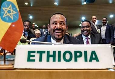 El primer ministro etíope, Abiy Ahmed, ganó el Nobel de la Paz. Foto AFP