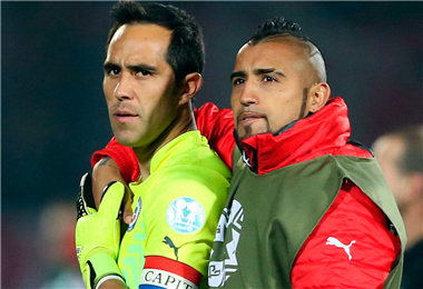 Los chilenos Claudio Bravo y Arturo Vidal