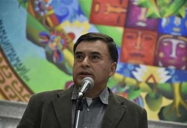 La autoridad brindó una conferencia de prensa en la Casa Grande del Pueblo I Foto: APG Noticias.