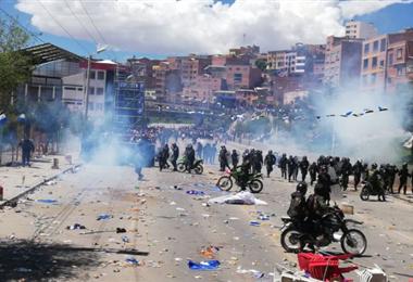 Los incidentes se registraron antes de mediodía I Foto: El Potosí.