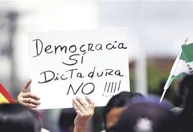 El mensaje es recurrente en movilizaciones ciudadanas por el 21-F