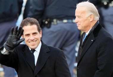 Hunter Biden junto a su padre, Joe Biden   Foto: AFP archivo