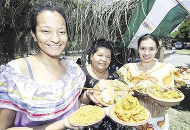 Marcela Pedriel, Carmen Rodríguez y Tina Pereira fueron parte del Festival del Masaco