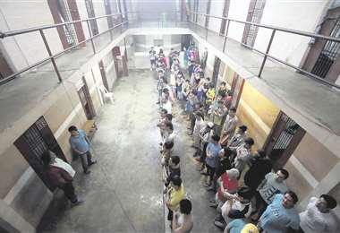 El interior del PC-7, en Santa Cruz, es una de las zonas de alta seguridad. El control es más estricto que en el régimen abierto de Palmasola que se conoce como PC-4