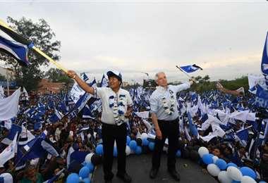 El jefe de Estado realiza el cierre de su campaña en varias regiones del país I Foto: Twitter.