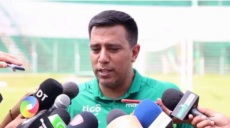 César Farías, director técnico de la selección boliviana. Foto. Prensa FBF