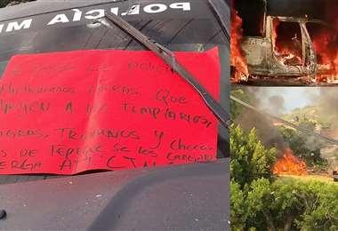 Los autores del atentado dejaron mensajes dirigidos a la Policía (Diario Basta)