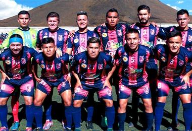 Los jugadores de Stormers San Lorenzo de Potosí en una formación. Foto: Facebook Stormers San Lorenzo