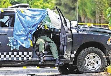 Policías terminaron acribillados en el municipio de Aguililla