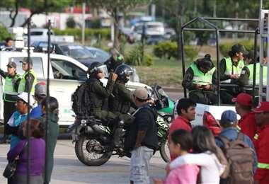 El Cambódromo se encuentra con fuerte resguardo policial. Foto: