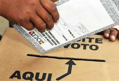 Imagen referencial de votación