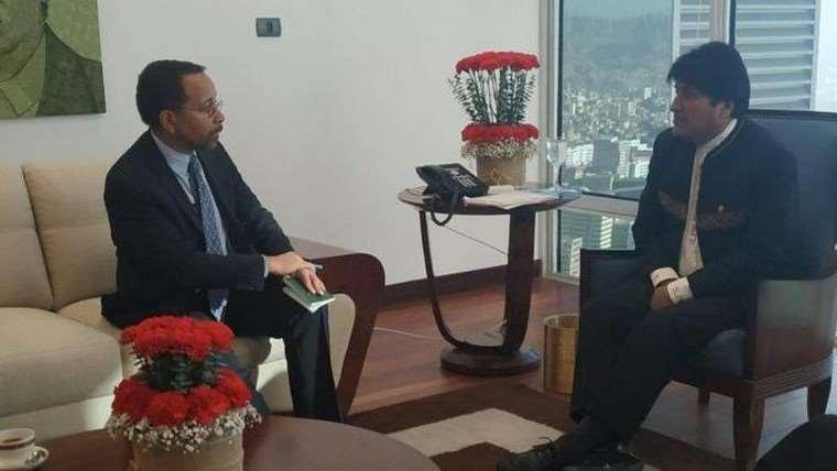 El jefe de Estado se reunió con el diplomático el 30 de agosto I Foto: archivo.