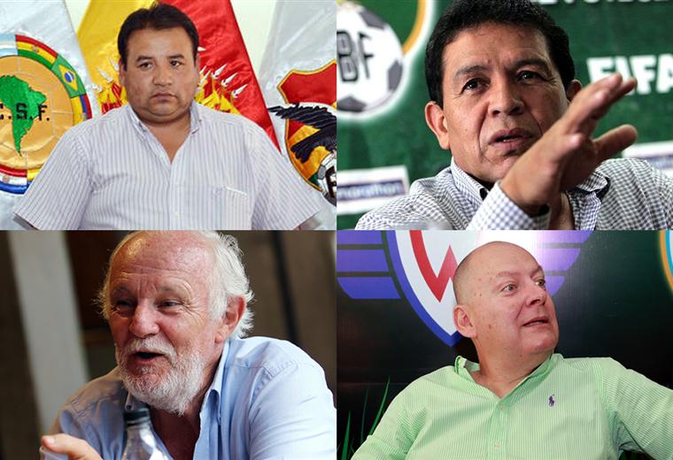 Ortega, López, Peredo y Ribera fueron presidentes de la FBF. Foto: Archivo/EL DEBER