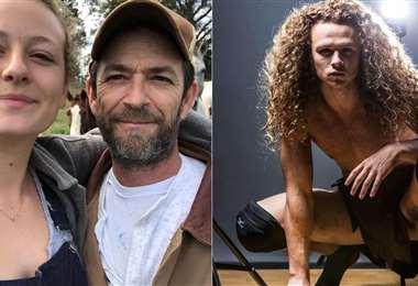 Luke Perry y sus hijos