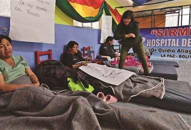 Los galenos cumplen 31 días de huelga de hambre I Foto: Página Siete.
