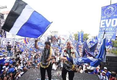 El jefe de Estado cerró esta jornada su campaña en Cochabamba I Foto: MAS.