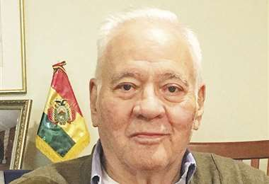 El expresidente Sánchez de Lozada en su más reciente aparición