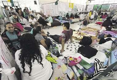 La huelga de hambre de los galenos en Santa Cruz va por el día 16. Foto: HERNÁN VIRGO