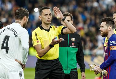 Ramos y Messi durante el sorteo. Foto: Internet