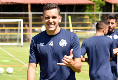 Luis Haquin supera su lesión con optimismo. Foto: Facebook Luis Haquin