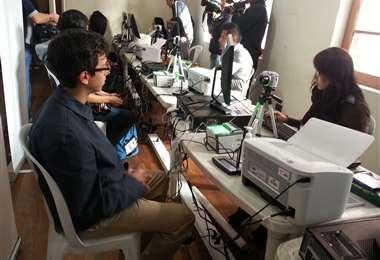 Padrón biométrico en Bolivia
