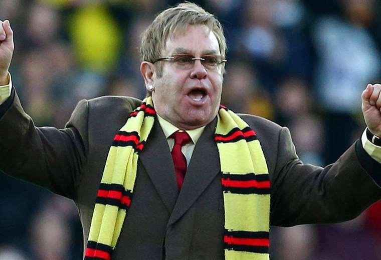 El cantante británico asiste habitualmente al estadio. Foto: Internet