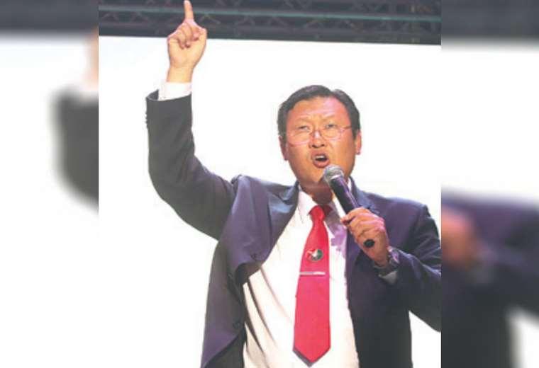 Chi Hyun Chung, en su cierre de campaña en el Cambódromo
