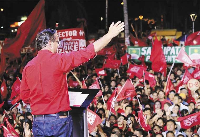 """Ortiz puso contenido concreto a su lema de """"tengo las manos limpias"""". Foto:  HERNÁN VIRGO"""
