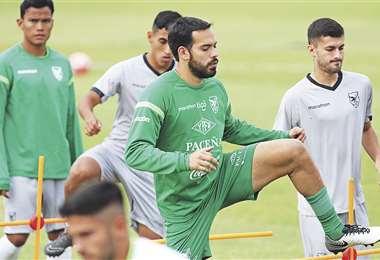 Sánchez pasa por un buen momento en Blooming. Fue titular con la Verde ante Venezuela e ingresó en el segundo tiempo contra Haití. Foto: AFP