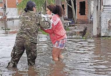 El temporal afectó principalmente a los barrios más humildes. Foto: AFP