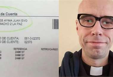 Diácono Sonnante dice que Evo tiene cuentas en el Vaticano