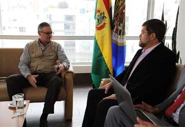 El jefe de UN se reunió con el titular de la misión extranjera I Foto: Twitter.