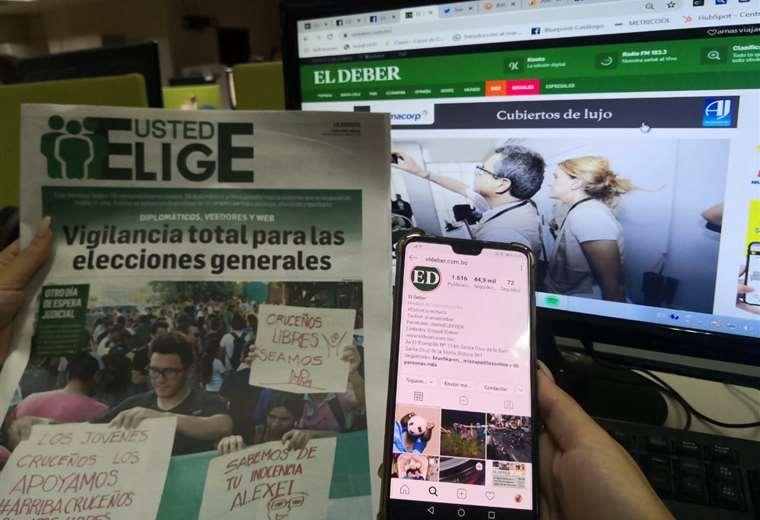 EL DEBER prepara una cobertura multimedia sin precedentes para las elecciones nacionales