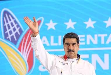 Desde Caracas, Maduro se jactó del triunfo. Foto: AFP