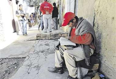 Una imagen de los pasillos de Morros Blancos, el penal de Tarija