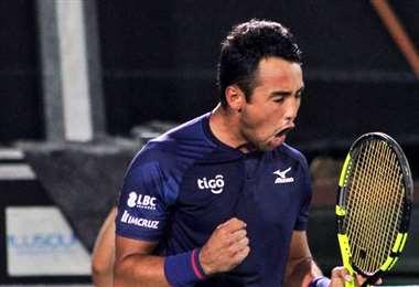 Hugo Dellien es el referente del tenis en Bolivia. Foto: Prensa Hugo Dellien