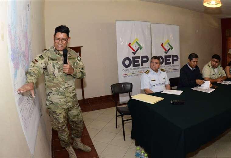 Se garantiza la seguridad durante el proceso electoral I Foto: Los Tiempos.