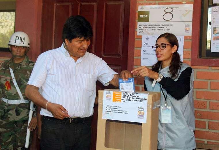 La máxima autoridad nacional sufragará en Cochabamba I Foto: archivo.