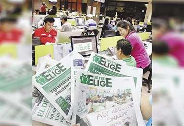 EL DEBER Multimedia desplegará todo su equipo periodístico en cada una de las plataformas digitales. Foto: HERNÁN VIRGO