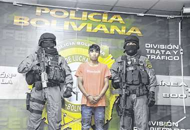 El sindicado fue detenido por los equipos especiales de la Policía. Foto: APG NOTICIAS
