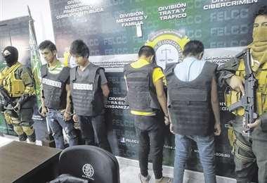 Los jóvens confesaron que eran obligados a asaltar en San Ignacio. Foto: GUIDER ARANCIBIA