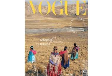 Cholitas escaladoras bolivianas en Vogue