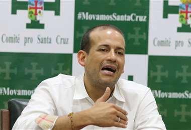 El presidente del Comité Pro Santa Cruz, Luis Fernando Camacho