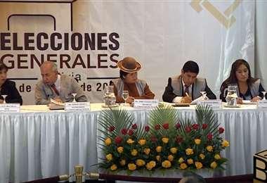 Se instaló la sala plena en La Paz para el escrutinio de las actas. Foto: APG