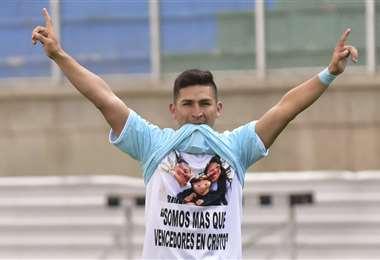 Castellon demostró porque lo apodan: 'bailarín'. Foto: Club Bolívar