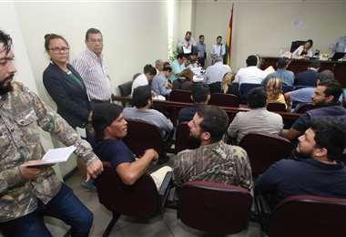 La audiencia cautelar se realizó en el Palacio de Justicia. Foto: Hernán Virgo